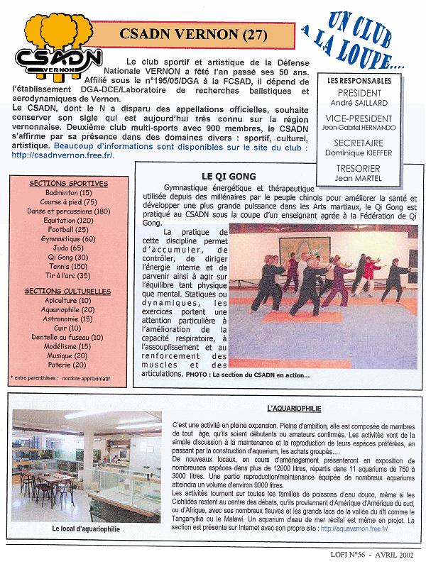 LOFI n°56 - avril 2002 : un club à la loupe
