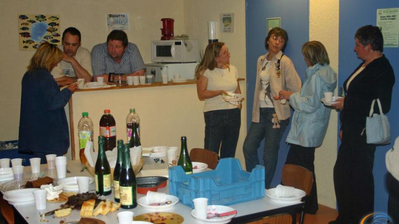 30 juin 2007, soirée conviviale avec les dentelières du CSADN