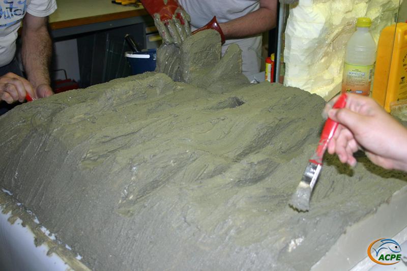 4 juillet 2007, réalisation d'un décors artificiel pour l'aquaterrarium