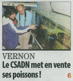 Paris Normandie du 9 juin 2012 - Le CSADN Mets en vente ses poissons