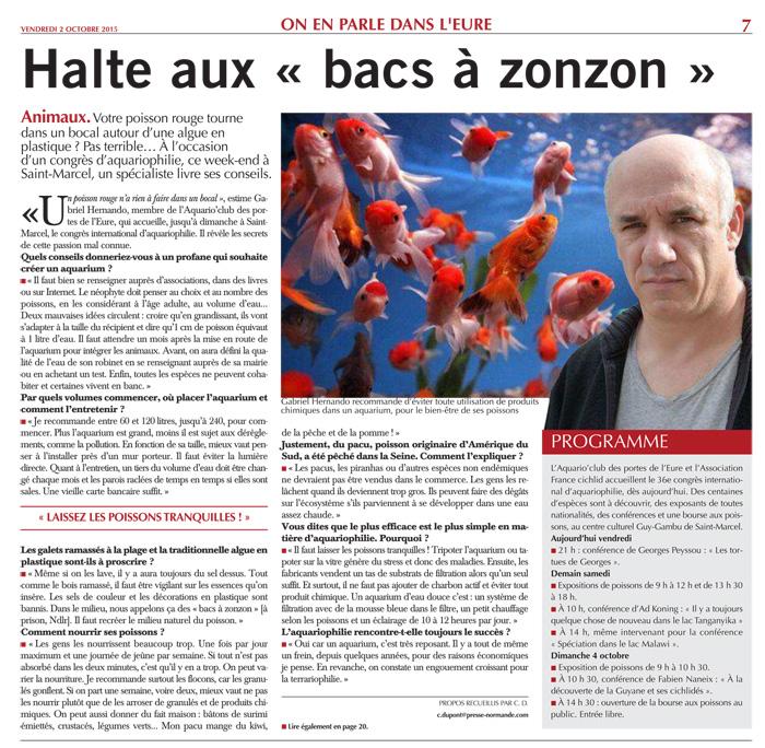 """Paris Normandie du 2 octobre 2015, page 7 - Halte aux """"bacs à zonzon"""""""