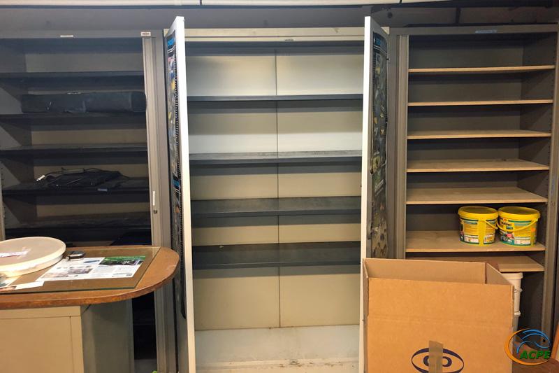 12 août, nos trois grandes armoires sont vides