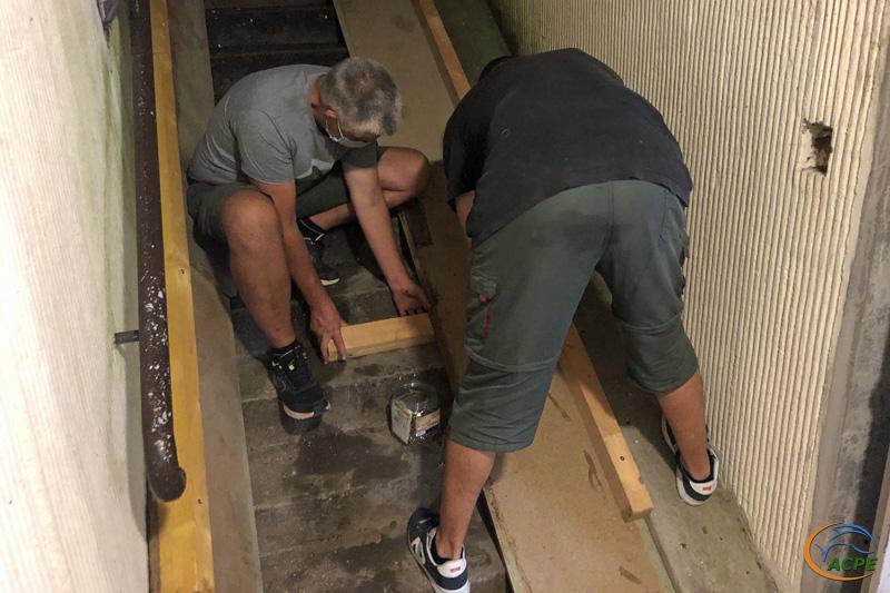 19 août, réalisation de la rampe