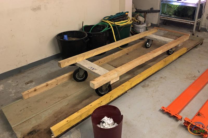 23 Septembre, la rampe et son chariot, prêts pour le déménagement