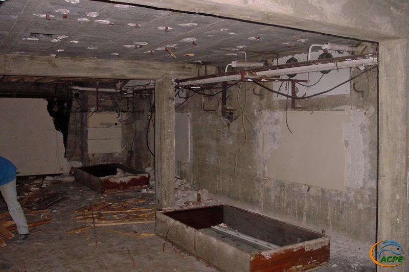 18 juin 2001, mise à nu des murs et plafonds