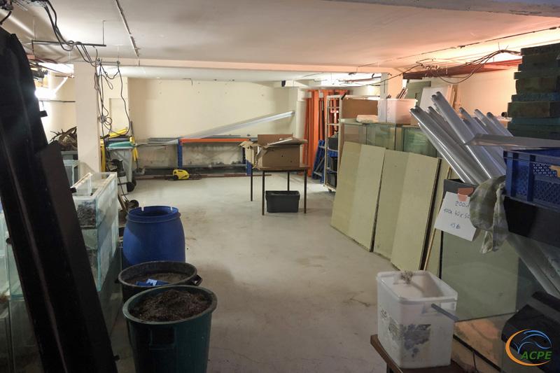 11 mars, la salle d'exposition est devenue une zone de stockage