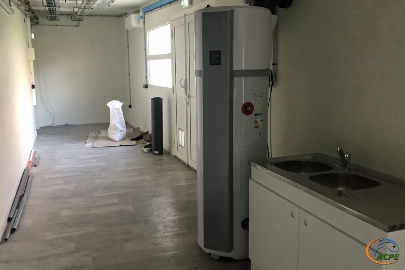 L'atelier, avec le chauffe-eau au 31 décembre 2020