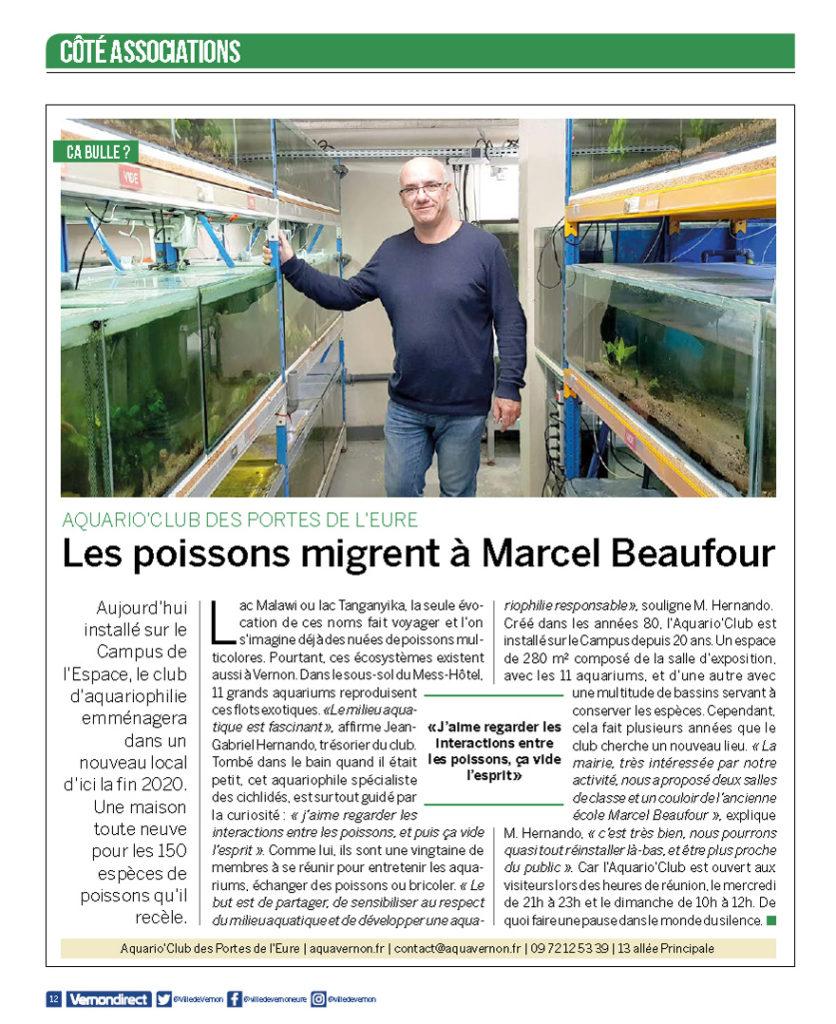 Vernon Direct 92 du 23 octobre 20198 - Les poissons migrent à Marcel Beaufour