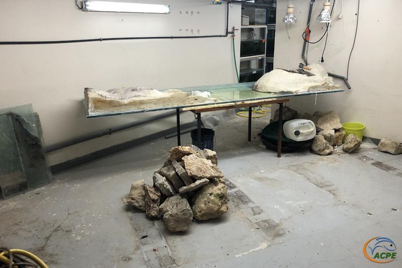 La zone, après démantèlement de l'aquarium et du support