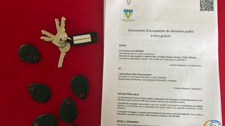 Signature de la convention d'occupation et remise des clés le vendredi 4 juin 2021