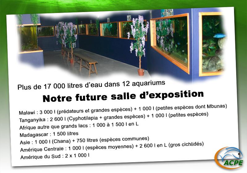 """Notre future salle d'""""exposition d'aquariums à l'espace Marcel Beaufour"""